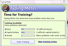 This picture shows the Typing_master's_screen_training_suggested