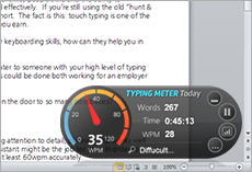This picture shows the typing Master Typing_Analysis_Widget
