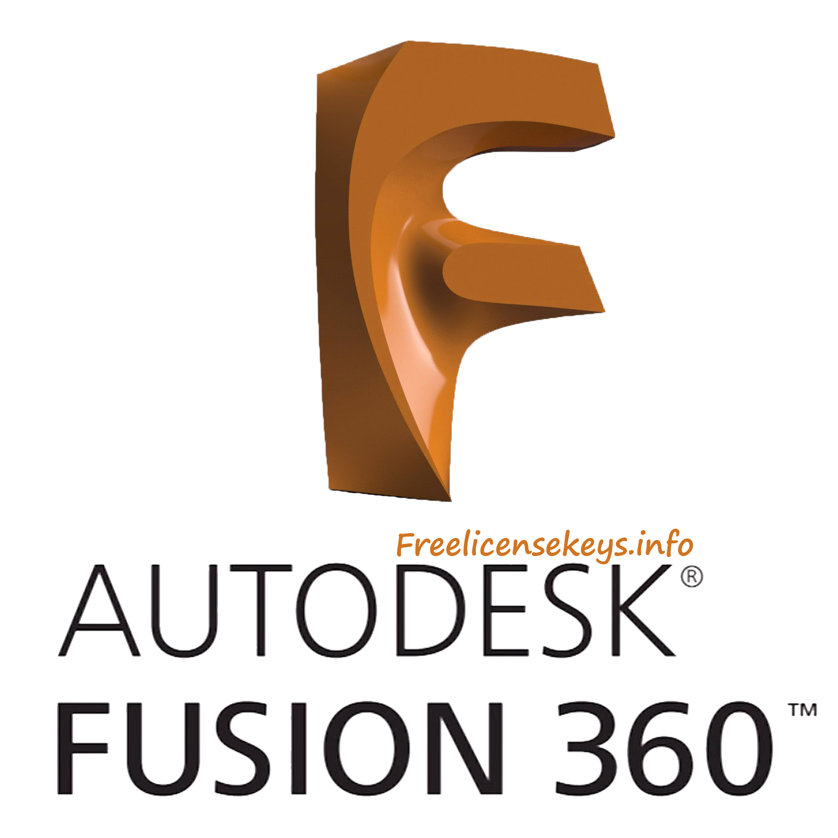 This is the logo of Autodesk Fusion 360 Crack